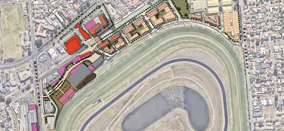 <p>Enabling housing diversity &amp; mixed uses to support and enhance the Morphettville Racecourse.</p>